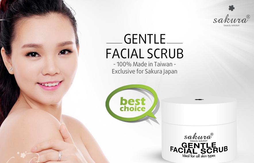Tẩy tế bào chết vùng mặt Sakura Gentle Facial Scrub đánh bay lớp tế bào sần sùi, già nua