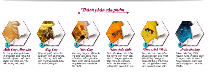 Kem mật ong Manuka 18+ chiết xuất 100% từ thiên nhiên an toàn với mọi loại da