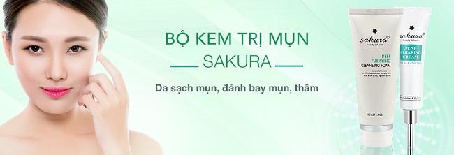 Kết hợp sử dụng đồng bộ sữa rửa mặt Sakura để đạt hiệu quả trị mụn nhanh nhất