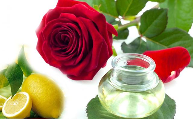 Nước hoa hồng và chanh trị mụn, giảm nhờn bóng