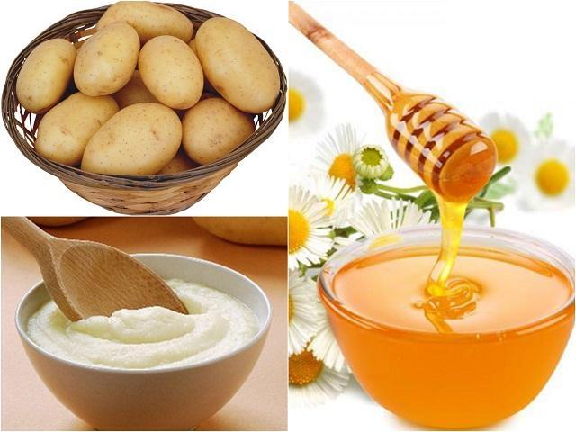 Kết hợp khoai tây và mật ong bạn sẽ có một loại mặt nạ trị sẹo mụn cực tốt ngay tại nhà