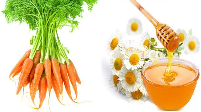 Cà rốt và mật ong giúp đánh bay hết tất cả những nốt mụn cứng đầu trên da