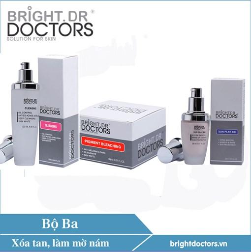 Bộ 3 chữa nám hoàn hảo Bright.Dr Doctors