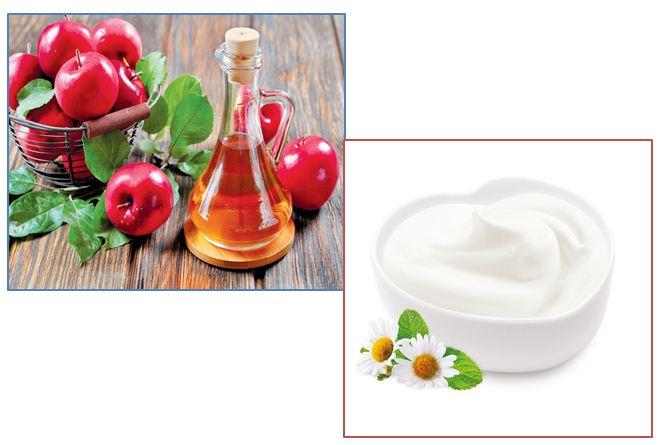 Làn da sáng mượt không tỳ vết nhờ đắp mặt nạ giấm táo và sữa chua