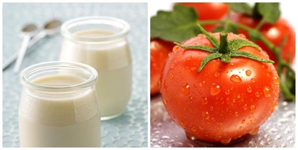 Cà chua và sữa trị nám da nhanh chóng