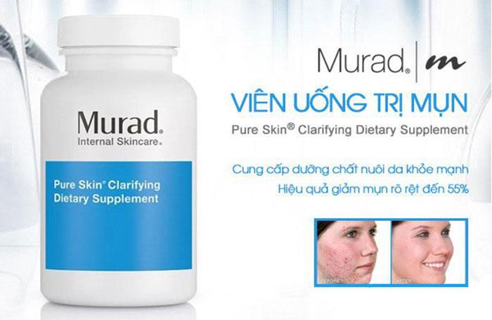 Viên uống giảm mụn Murad Pure Skin Clarifying Dietary Supplementcó tốt không?
