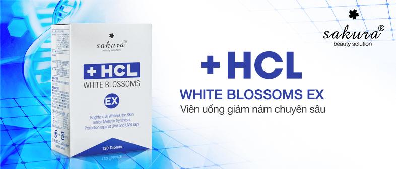 Viên uống giảm nám chuyên sâu Sakura White Blossoms HCL Ex giải pháp  giúp bạn loại bỏ nám da, tàn nhang, đốm nâu