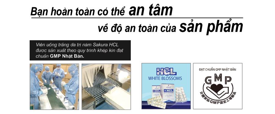 Viên uống trị nám Sakura HCL tuyệt đối an toàn cho người sử dụng