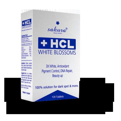 Viên uống trị nám trắng da Sakura HCL có xuất xứ từ Nhật Bản