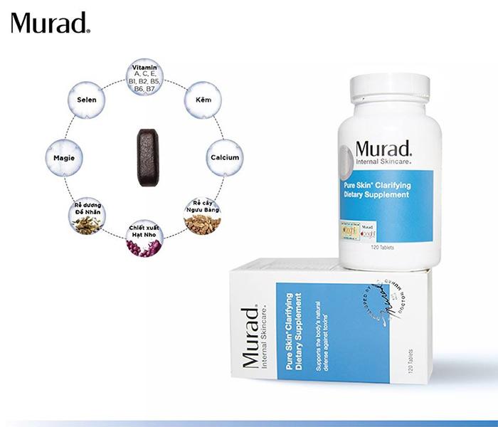 Viên uống giảm mụn từ bên trong Murad