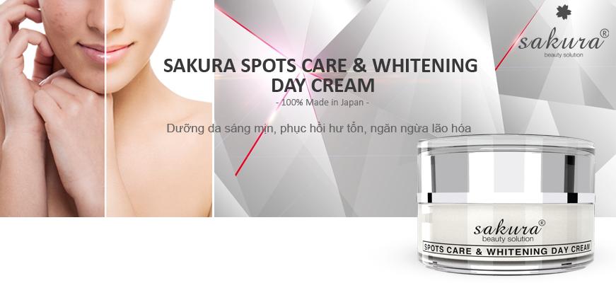 Kem dưỡng trắng da, làm mờ thâm nám cao cấp ban ngày Sakura chính hãng của Nhật