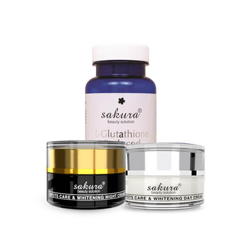 Bộ sản phẩm hỗ trợ điều trị nám và dưỡng trắng da cao cấp Sakura