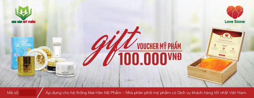 Hướng dẫn sử dụng Gift Voucher dành cho khách hàng Love Stone mua Mỹ phẩm do Mai Hân phân phối