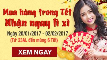 My pham Mai Han thong bao lich nghi tet Nguyen Dan 2017 va chuong trinh tri an mung xuan Dinh Dau nhan li xi khung